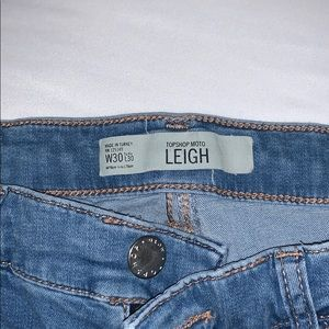 """Top shop jeans """"Leigh"""" size 30x30"""